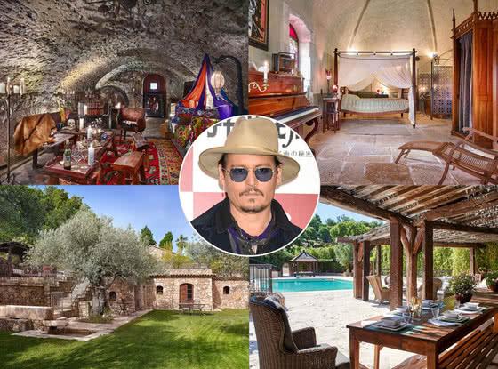 Логово Джека Воробья: во французском поместье Джонни Деппа (Johnny Depp)