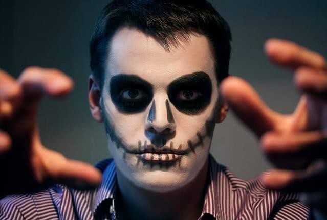 Грим бледный скелет своими руками