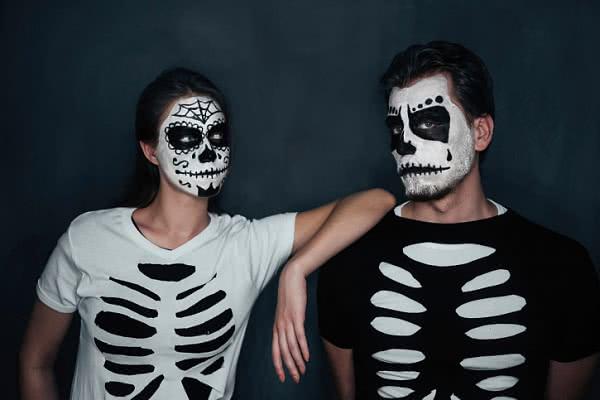 Грим бледные скелеты своими руками